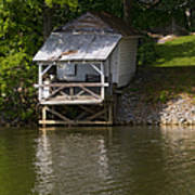 Coosa River Fishing Hut   #9548 Poster