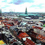 Copenhagen Roofs With Danish Parliament I Poster