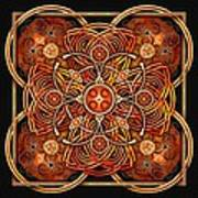Copper And Gold Celtic Cross Poster