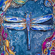Copper Dragonfly Poster