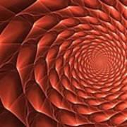 Copper Spiral Vortex Poster