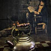Copper Teapot Poster by Debra and Dave Vanderlaan