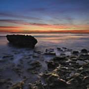 Coral Cove Beach At Dawn Poster