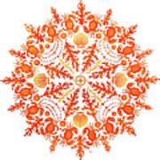 Coral Crab Mandala Poster
