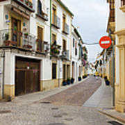Cordoba Old Town Houses Poster
