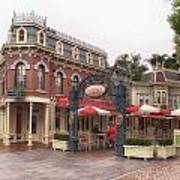 Corner Cafe Main Street Disneyland 02 Poster