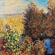 Corner Of Garden In Montgeron Poster