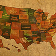 Corporate America Map Poster
