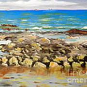 Corrimal Beach Near Towradgi Rook Pool Poster