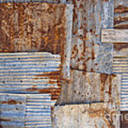 Corrugated Iron Background Poster