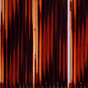 Corrugated Patterns In Orange And Black Poster