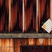 Corrugated Steel Mill Wall Alton Il Poster