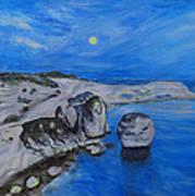 Corsica Bonifaccio Evening Poster