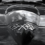 Corvette In Black And White Poster