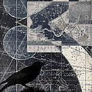 Corvus Star Chart Poster by Carol Leigh