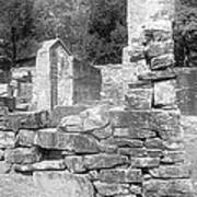 Cosley Mill Ruins In Black And White Poster