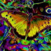 Cosmic Butterfly Poster by Rebecca Flaig