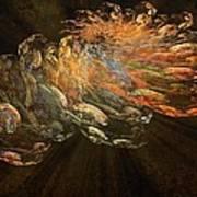 Cosmic Dust And Light Beauty Fine Fractal Art Poster