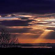 Cosmic Spotlight On Shannon Airport Poster