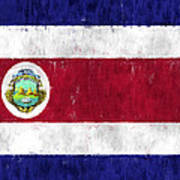 Costa Rica Flag Poster