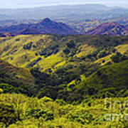 Costa Rica Mountains Poster