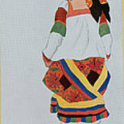 Costume Design For A Peasant Girl, 1922 Poster
