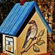 Cottage Birdhouse-back Poster
