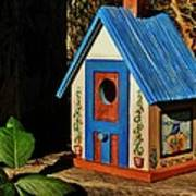Cottage Birdhouse Poster