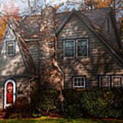 Cottage - Cranford Nj - Autumn Cottage  Poster by Mike Savad