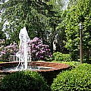 Cottage Garden Fountain Poster