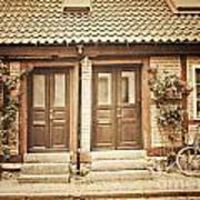 Cottage Townhouses In Lund Poster