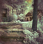 Cottages In The Woods Poster by Jill Battaglia
