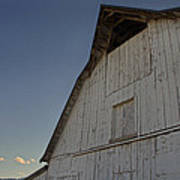 Country Barn And Mt Ashland Poster
