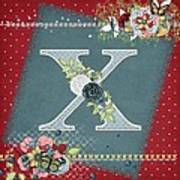 Country Charm Monogramed X Poster