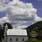 Country Church And Sign Poster