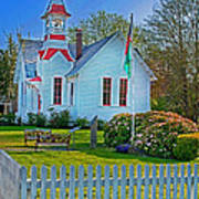 Country Church In Oysterville Wa Poster