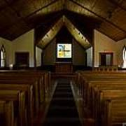 Country Church Interior Poster