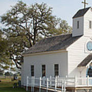 Round Top Texas Country Church Poster