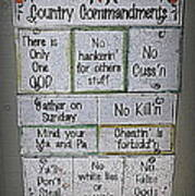 Country Commandments Poster