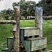 Country Farm Fence Stile Crossing Poster