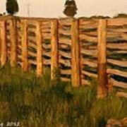 Country Fence In England Poster