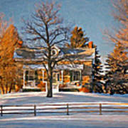 Country Home Oil Poster