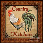 Country Kitchen Rooster Poster