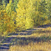 Country Lane Digital Oil Painting Poster