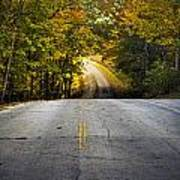 Country Road In Fall Poster
