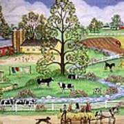 Country Scene Poster