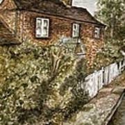 Old English Cottage Poster