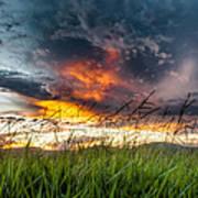 Country Sunset In Valenca - Brazil Poster