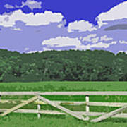 Countryside Scene Digital Painting Poster