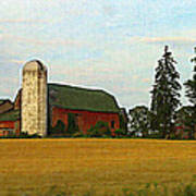 County Barn - Digital Painting Effect Poster